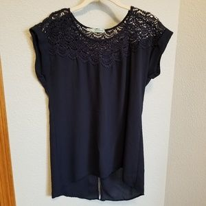 Maurices Lace Sheer Top